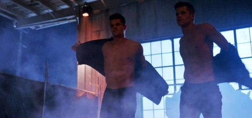 Teen Wolf twins taking off their shirts